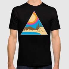 Camping Mens Fitted Tee Black SMALL