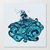 Upon The Sea Canvas Print
