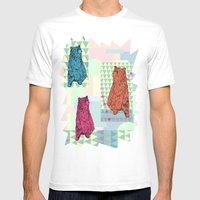Cute Little Bears Mens Fitted Tee White SMALL