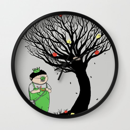 The Egg Collector Wall Clock