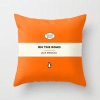 Penguin Book / On The Road - Jack Kerouac  Throw Pillow