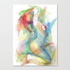 Levoton tuuli uteliaan korvaan Canvas Print