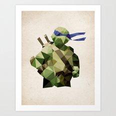 Polygon Heroes - Leonardo Art Print