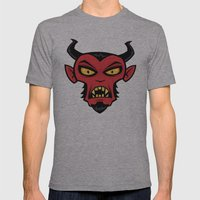 Mad Devil Mens Fitted Tee Athletic Grey SMALL