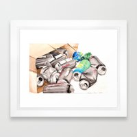 Spilled Cans Framed Art Print