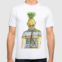 Mr. Pineapple Mens Fitted Tee Ash Grey SMALL
