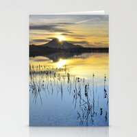Reflections Of Volcano Stationery Cards
