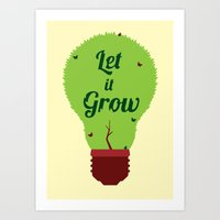 Let it Grow Art Print