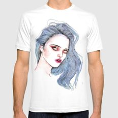 Sky Ferreira /  Blue  Mens Fitted Tee White SMALL