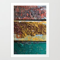 Rusty Flag Art Print