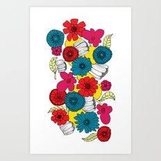 Scandinavian Flowers Art Print