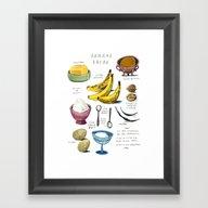 Illustrated Recipes: Ban… Framed Art Print
