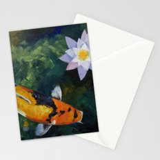 Showa Koi and Water Lily Stationery Cards