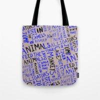 Animal Type Block Tote Bag
