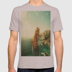 Girl on the Beach Mens Fitted Tee Cinder SMALL