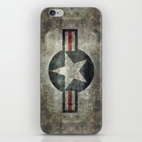 Stylized Tribute of the US Air force Roundel insignia #1 iPhone & iPod Skin