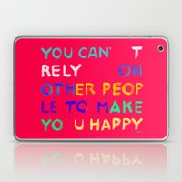 RELY / ABSOLUTELY HAPPY VERSION Laptop & iPad Skin