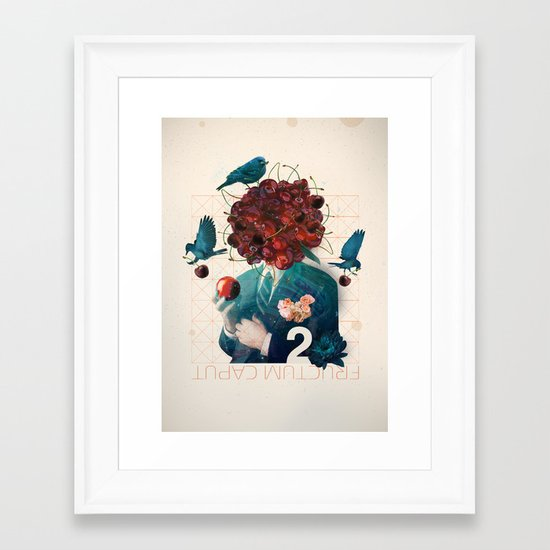 fructum caput Framed Art Print