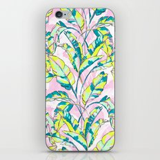 Neon Banana Leaves iPhone & iPod Skin