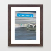 Flying Cars to the Right Framed Art Print