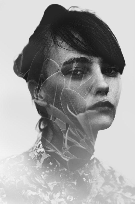 Lady Leaves Art Print