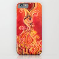 iPhone & iPod Case featuring The Rising Phoenix by Lee Libro