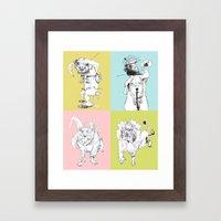 4 Little Animals Framed Art Print