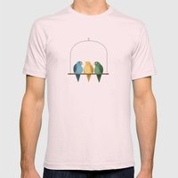 Birds of a Feather Mens Fitted Tee Light Pink SMALL