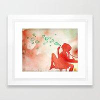 Desk Daydream Framed Art Print
