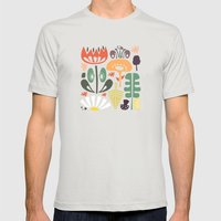 Scandinavian Wildflowers Mens Fitted Tee Silver SMALL