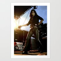 Alice Cooper Fence Stance Art Print
