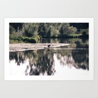 Lake Somewhere Art Print