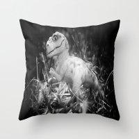 DinoLand I Throw Pillow