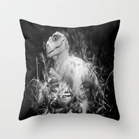 DinoLand I Throw Pillow
