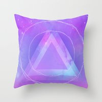 Galaxy Triangle Throw Pillow