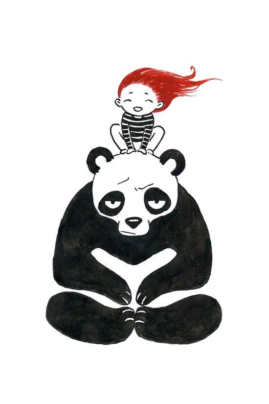 Babysitting Art Print