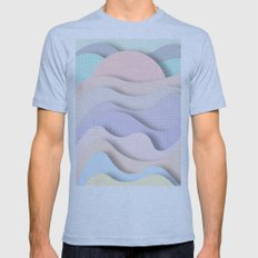Wave I Mens Fitted Tee Athletic Blue SMALL