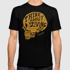 Think About Living Mens Fitted Tee Black SMALL