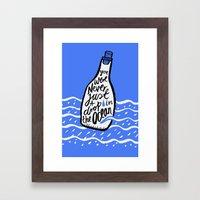 Just A Drop in The Ocean Framed Art Print