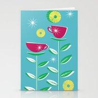 Teacups - Blue Stationery Cards