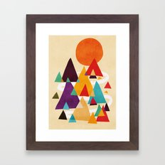 Let's visit the mountains Framed Art Print