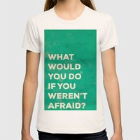 WHAT WOULD YOU DO Womens Fitted Tee Natural SMALL
