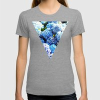 Blue flowers all summer  Womens Fitted Tee Tri-Grey SMALL