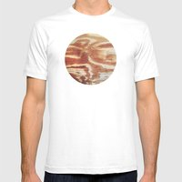 Planetary Bodies - Wood Mens Fitted Tee White SMALL
