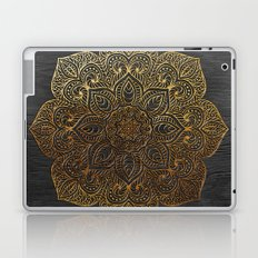 Wood Mandala - Gold Laptop & iPad Skin