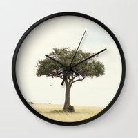 tree hugger::kenya Wall Clock