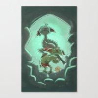 Goblins Drool, Fairies Rule! - Cringe and Cower Canvas Print
