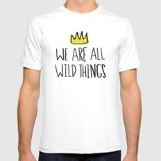 Wild Things SMALL White Mens Fitted Tee