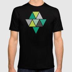Triangulum - Emerald Mens Fitted Tee Black SMALL