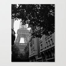 Eiffel Tower in Hiding Canvas Print